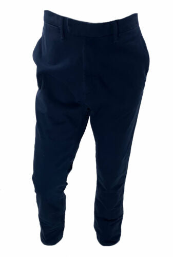 DKNY Men's Side Stripe Flat Front Chino Pants Navy Blue
