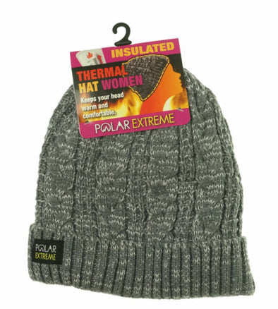 Polar Extreme Heat Women's Insulated Thermal Lined Marled Cuff Hat
