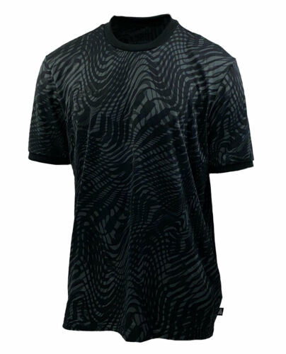 Adidas Men's Tango ClimaLite Printed Crew Neck T Shirt Black Gray Size Medium
