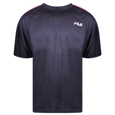 Fila Men's Short Sleeve Crew Neck Wicking Athletic Shirt Black Size 2XL