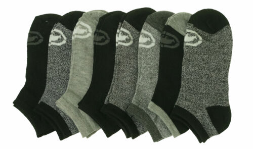 Ecko Unltd Boy's 8 Pair Pack Flat Knit No Show Socks Black Gray Sock Size 6-8.5