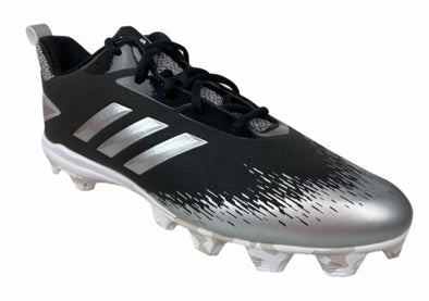 Adidas Men's Afterburner V Baseball Cleats Black Silver Size 12