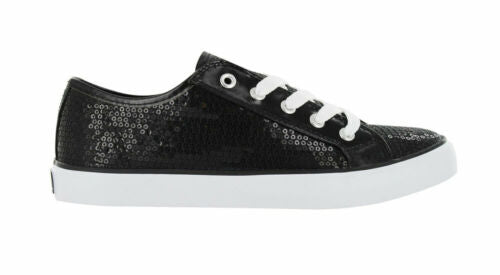Gotta Flurt Girl's Disco II Low Top Sequin Fashion Sneakers Black