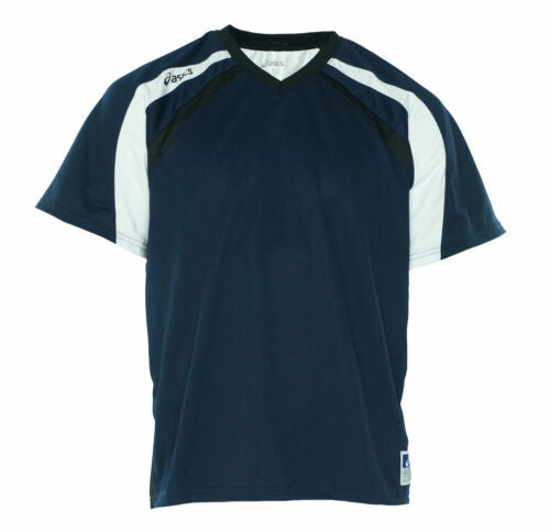 Asics Men's Crosse Short Sleeve Jersey Navy Blue Black Size Large