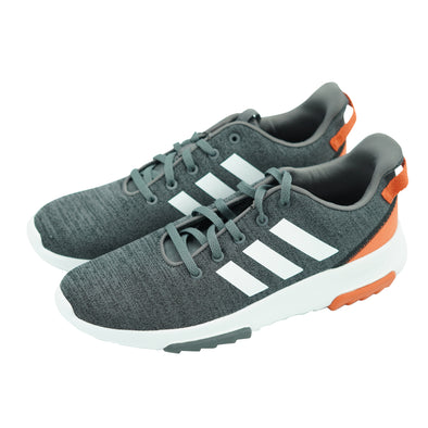 Adidas Kid's Cloudfoam Racer TR K Athletic Shoes Gray Orange Size 6