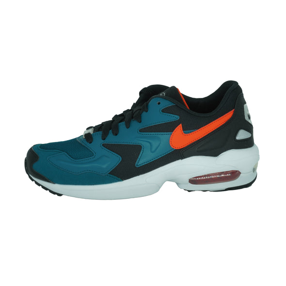 Nike Men's Air Max2 Light Running Athletic Shoes Black Blue Size 8