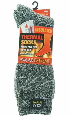 Polar Extreme Men's King Size Thermal Insulated Fleece Socks Shoe Size 11-14