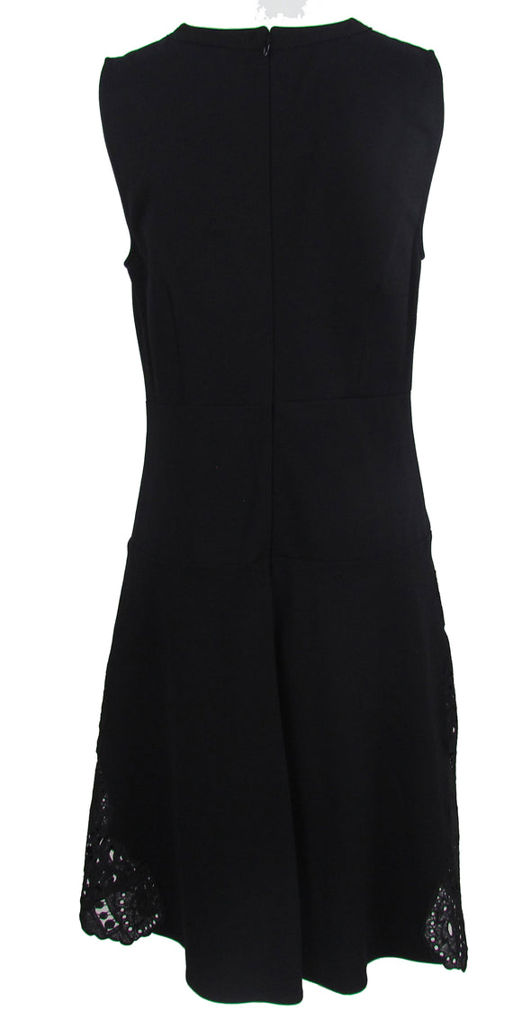 Kobi Women's Lace Trim Fit & Flare Sleeveless Dress Black Size 8