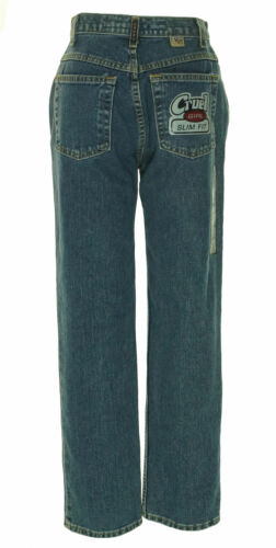 Cruel Girl Junior's Slim Fit Mid Rise Medium Wash Heavyweight Jeans