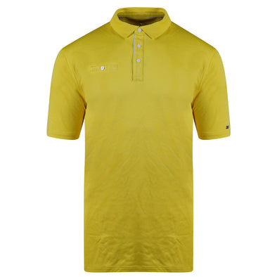 Nike Men's Short Sleeve Standard Fit Striped Polo Yellow White