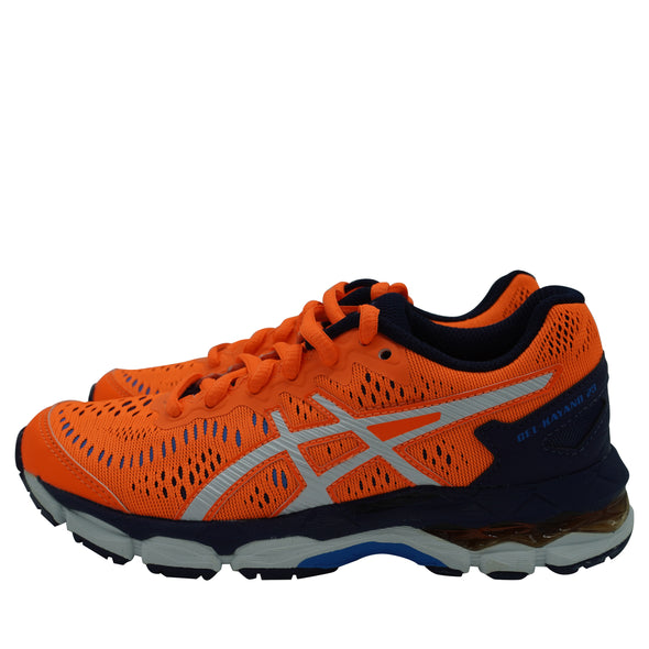 Asics Kid's Gel Kayano 23 GS Athletic Running Shoes Orange Blue