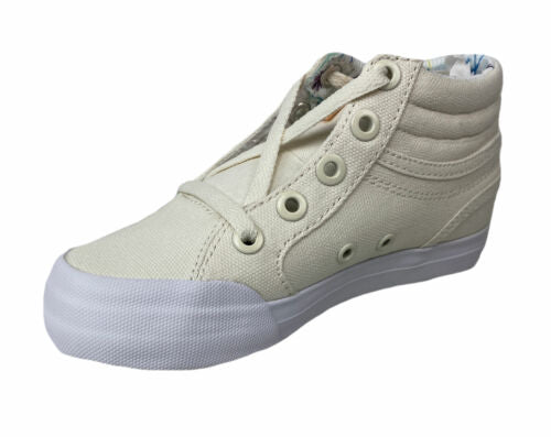 DC Girl's Evan Hi Hop Lace Up Sneakers Cream Size 10.5