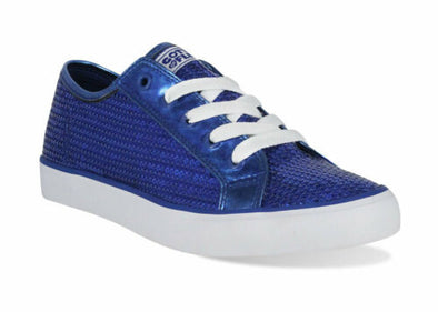 Gotta Flurt Girl's Disco II Low Top Sequin Fashion Sneakers Blue