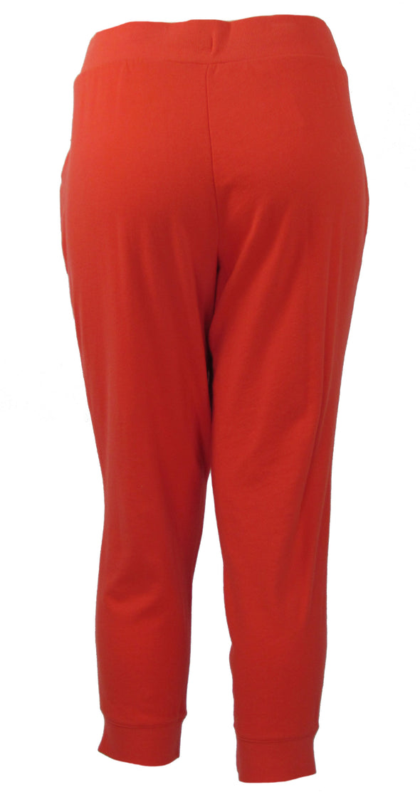 Lauren Ralph Lauren Women's Logo Jogger Sweatpants Geranium Red Size XL