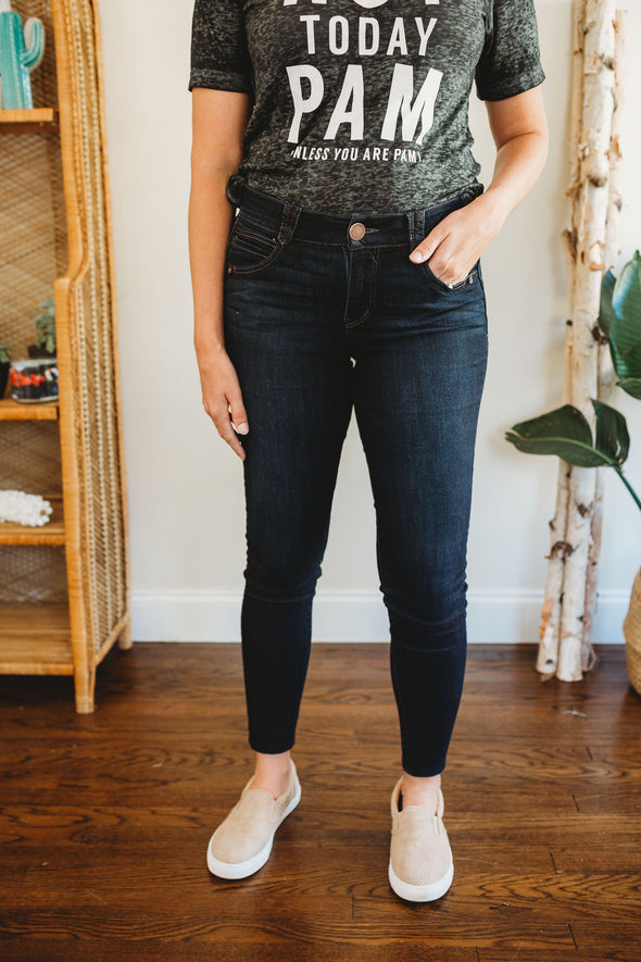 Democracy Ab Solution Booty Lift Jegging Dark Indigo