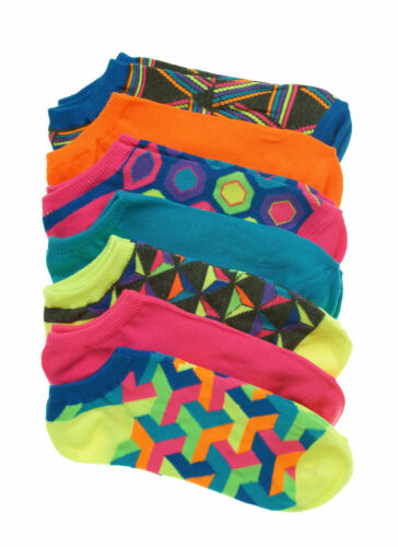 Everlast Women's 7 Pair Pack No Show Comfort Top Bright Color Socks
