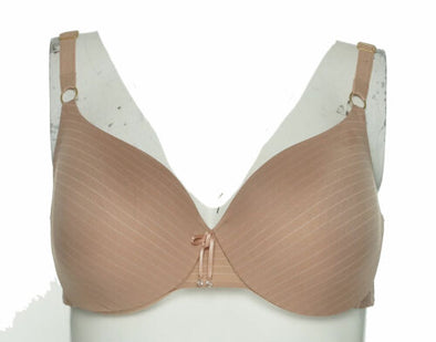 Ashley Graham Women's Icon Underwire T-Shirt Bra Cappuccino Beige