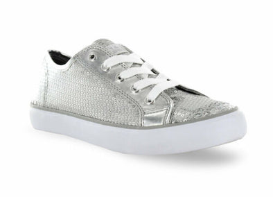 Gotta Flurt Girl's Disco II Low Top Sequin Fashion Sneakers Silver