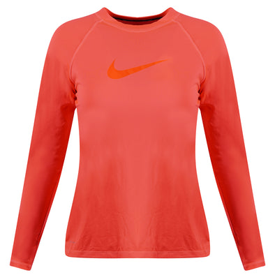 Nike Women's Dri Fit Long Sleeve UPF 40 Shirt Fluorescent Pink Size Large