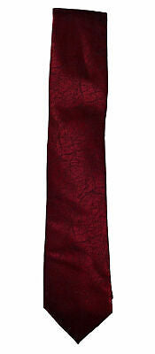Calvin Klein Men's Abstract Vine Silk Tie Red Hot Branches
