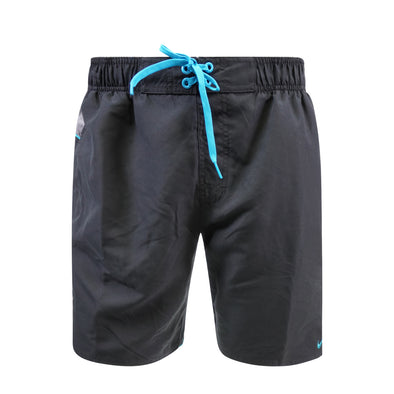 "Nike Men's Swim Color Surge 9"" Volley Short Swim Trunks Black Gray Blue"