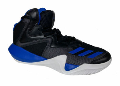 Adidas Kid's Crazy Team High Top Basketball Athletic Shoes Black Blue Size 7