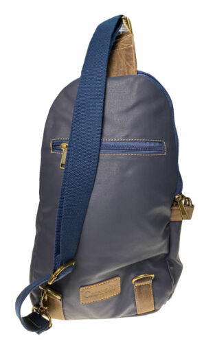 Cargo IT One Shoulder Hope Sling Backpack Navy Blue Brown