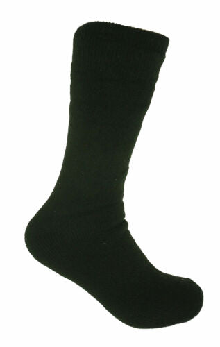 Polar Extreme Men's Thermal Insulated Lined Wool Crew Socks Black