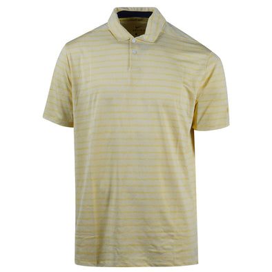 Nike Men's Short Sleeve Dri Fit Striped Standard Fit Polo Yellow White Medium