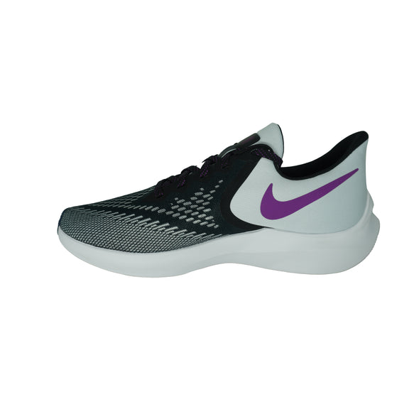 Nike Women's Zoom Winflo 6 Running Athletic Shoes Black Purple Gray Size 9.5