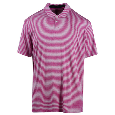 Nike Men's Tiger Woods Short Sleeve Dri Fit Stripe Polo Purple White Size XL