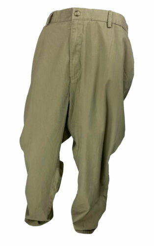 Club Room Men's Big and Tall Flat Front Chino Pants Khaki Size 48x34