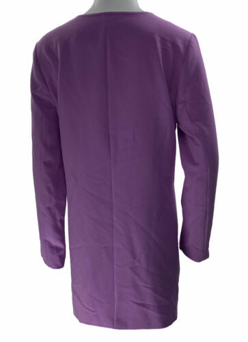 Alfani Women's Zip Up Pocket Detail Long Jacket Pastel Purple