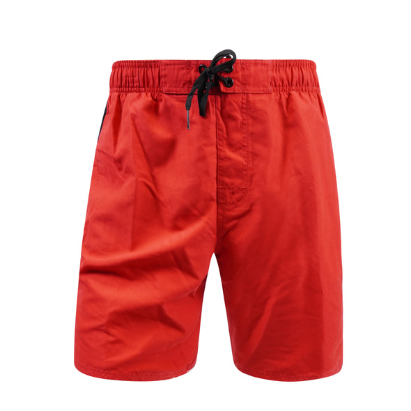 "Nike Men's Swim Color Surge 9"" Volley Short Swim Trunks Black Red Black"