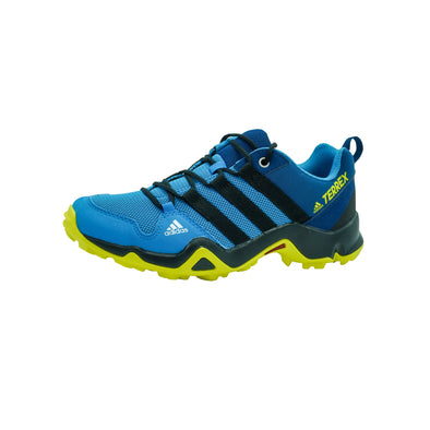 Adidas Terrex Kid's AX2R Hiking Athletic Shoes Blue Yellow Size 4