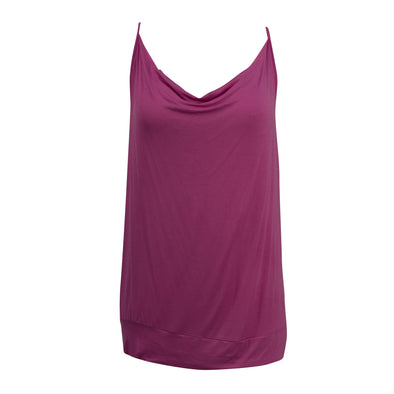 Michael Kors Women's Draped Racerback Active Tank Pink Size XL