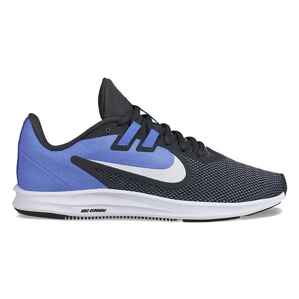 Nike Women's Downshifter 9 Running Athletic Shoes Black Sapphire Blue White 9