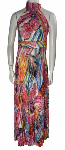International Concepts Women's Pleated Floral Print Maxi Dress Size 8P