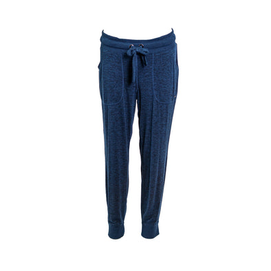 DKNY Women's Sport Spa Melange Jogger Pants Blue Size Medium