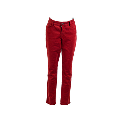 NYDJ Women's Lorena Ankle Slim Boyfriend Colored Wash Jeans Red Size 6