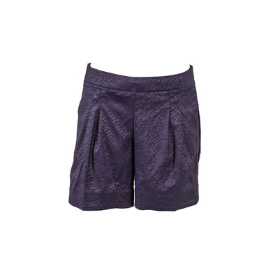Nike Women's Standard Fit Pleated Pull On Shorts Navy Blue Size Small