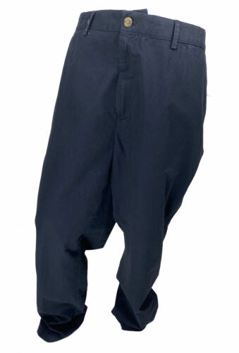 Club Room Men's Big and Tall Flat Front Chino Pants Navy Blue Size 48x34