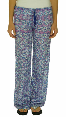 Bindya New York Women's Drawstring Printed Cover Up Pants Blue Purple $143