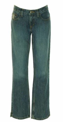Cruel Girl Junior's Low Rise Relaxed Fit Zipper Fly Jeans Medium Wash
