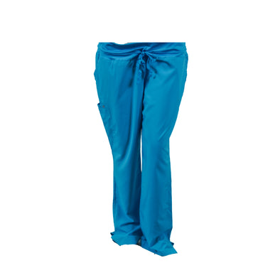 Barco One Women's Stride Yoga Style Medical Scrub Pants 5 Pockets Blue Size XL