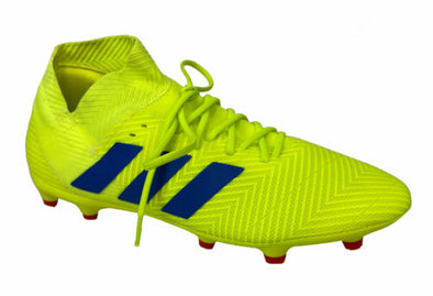 Adidas Men's Nemwziz 18.3 FG Soccer Cleats Neon Yellow Blue Size 10