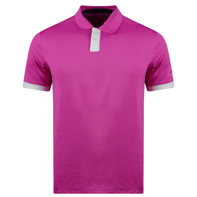Nike Men's Dri Fit Short Sleeve Polo Pink Size Small