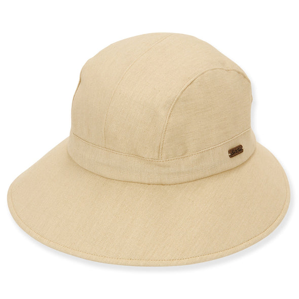 Sun N Sand Women's UPF 50+ Cotton Drawstring Sizer Hat