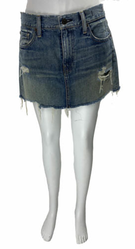 Denim & Supply Ralph Lauren Women's Vintage Mini Skirt Blue Size 28