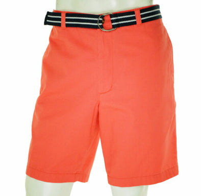 Club Room Men's Belted Flat Front Chino Shorts Heirloom Rose